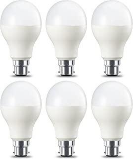 AmazonBasics Bombilla LED B22- 14W (equivalente a 100W)- Blanco Calido- Regulable- 6 unidades