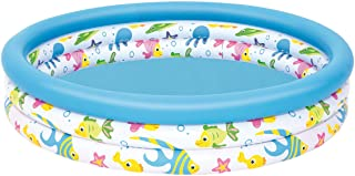 Color Baby-51009 Bestway. Piscina Infantil Coral 51009- Multicolor- 122 x 25 cm