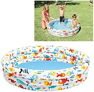 Intex 59431NP - Piscina hinchable 3 aros peces 132 x 28 cm- 248 litros