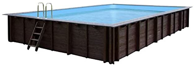 Jardin Piscina Pearl of South- piscina a y 96188- madera- rectangular piscina- 8-34 X 4-92 X 1-38 m- Bomba- Pool Escalera- Skimmer
