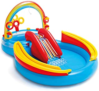 sanhuanmao Intex 57453NP Rainbow Ring Play Center - Piscina Hinchable (297 x 193 x 135 cm)