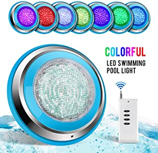 TOPLANET Led Piscina 48W RGB Luz de Piscina Iluminacion Led para Piscinas Impermeable IP68 Piscina Led Pool Light Control Remoto para Swimming Pool-Acuario Light Decoracion Wall Mounted